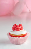 Pink themed cupcake Stock Images