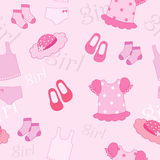Pink things. Pink fine things for little girl stock illustration
