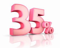 Pink Thirty Five Percent Royalty Free Stock Photography