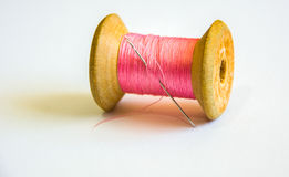Pink Thread, Reel and Needle Royalty Free Stock Photo