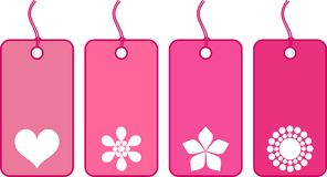 Pink tickets. Pink style advertisement tickets for sale Royalty Free Stock Photo