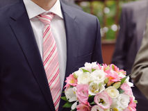 Pink Tie and Bouquet Royalty Free Stock Photography