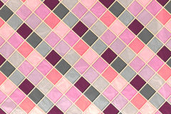 Pink Tile Mosaic. Bright abstract background for design royalty free illustration