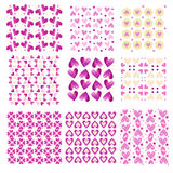 Pink tiling heart textures Stock Images