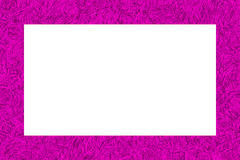 Pink tinsel texture frame Royalty Free Stock Images