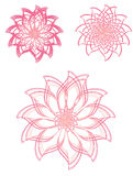 Pink tint floral element set  Royalty Free Stock Photography