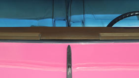 Pink and tinted. Classic 1950's pink auto with tinted windows Royalty Free Stock Photography