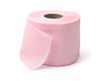 Pink toilet paper Stock Photos