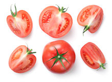 Free Pink Tomatoes Isolated On White Background Stock Photography - 98321692