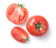 Pink Tomatoes Isolated on White Background Royalty Free Stock Images