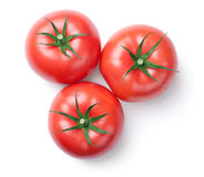 Pink Tomatoes Isolated on White Background Royalty Free Stock Photos