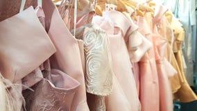 Pink tone dress. Hanging on hangerd Royalty Free Stock Image
