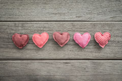 Pink tone handmade love sweet hearts for valentine's day Royalty Free Stock Photo