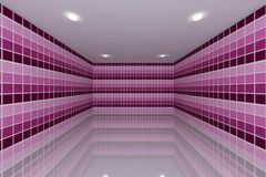 Pink tone tile wall design Royalty Free Stock Images