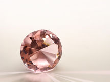 Pink topaz diamond Stock Images