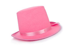 Pink topper hat Stock Image