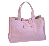 Pink tote bag royalty free stock image