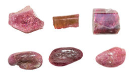 Pink tourmaline or rubellite Royalty Free Stock Photography