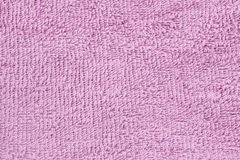 Pink towel cloth texture Stock Images