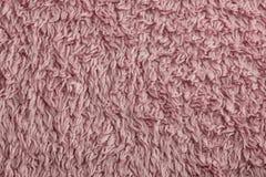 Pink towel fabric background Stock Photos