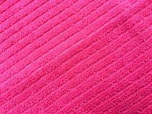 Pink towel textile texture background. And texture for Royalty Free Stock Photography