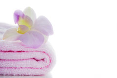 Pink towels Royalty Free Stock Image
