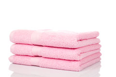 Pink towels stock images