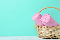 Pink towels Stock Photography