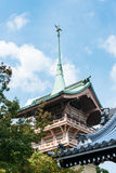 Pink tower of the Daiunin temple in Kyoto Royalty Free Stock Images