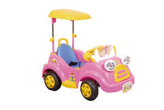 Pink toy car. On white background Royalty Free Stock Images