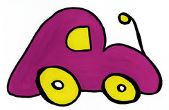 Pink toy car Royalty Free Stock Photography