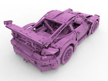 Pink toy car Stock Image