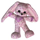 Pink toy rabbit Royalty Free Stock Images