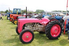 Pink tractor Royalty Free Stock Photography