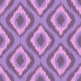 Pink tradition ikat ornament. Vector zig zag gradient seamless pattern. Royalty Free Stock Photo