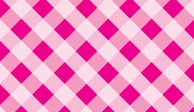 Pink traditional gingham background.Texture from squares for -tablecloths, clothes, shirts, dresses, paper and other textile prod. Ucts.llustration royalty free illustration