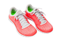 Pink trainers. Brightly pink trainers isolated on white Stock Photos