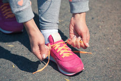 Pink trainers Stock Photography
