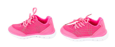 Pink training shoes for girls. Royalty Free Stock Photography