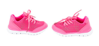 Pink training shoes for girls. Stock Image