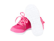 Pink training shoes for girls. Stock Images