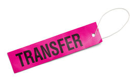 Pink Transfer Tag Stock Image