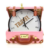 Pink travel suitcase Royalty Free Stock Photography