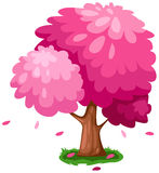 Pink tree stock illustration