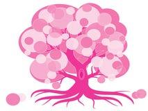 Pink tree royalty free illustration