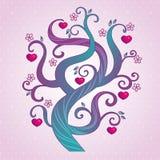 Pink-tree-3 иллюстрация вектора