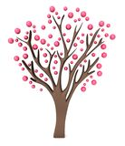 Pink tree 3d Royalty Free Stock Photos