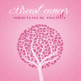 Pink tree for breast cancer prevention Stock Photos