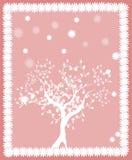 Pink tree card Royalty Free Stock Image
