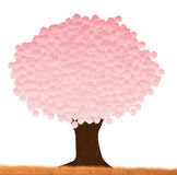 Pink tree. Illustration of pink tree on white background vector illustration